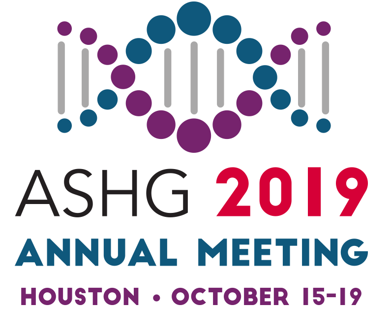 ASHG 2019 Annual Meeting, Houston, oct 15-19